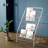 交換禮物-折疊架兒童書架繪本架書報架落地雜志架展示架鐵藝小書架3層4層WY