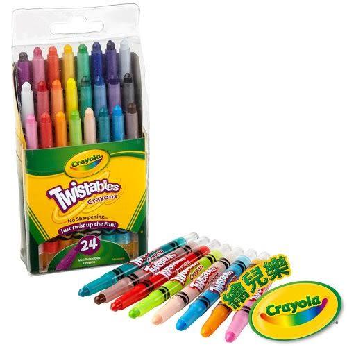 ☆愛兒麗☆美國crayola 迷你裝旋轉蠟筆經典色24色