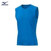 MIZUNO 男裝 背心 慢跑 訓練 吸汗 快乾 剪接透氣 舒適 藍【運動世界】J2MA901624