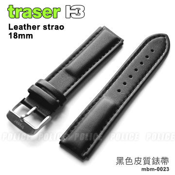 Traser 黑色皮質錶帶18mm#101275【AH03048】99愛買生活百貨