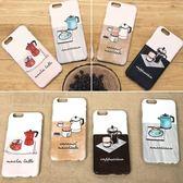 韓國 泡咖啡 硬殼 手機殼│可加購訂製雙層防摔│S7 Edge S8 S9 Plus Note5 Note8 Note9│z8406