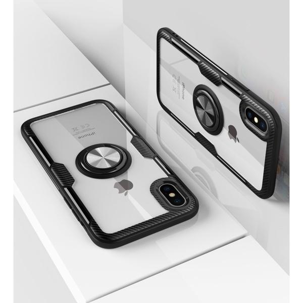 透明鎧甲指環 iPhone SE2 XS Max XR i7 i8 i6 i6s plus 手機殼 車載磁吸 影片支架 防刮防指紋 全包邊軟殼