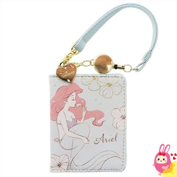 Hamee 日本正版 迪士尼 kiss the girl 折疊多層 伸縮票卡夾 悠遊卡套 證件夾 (小美人魚) KM00667