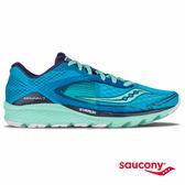 SAUCONY KINVARA 7 輕量緩衝專業訓練鞋-藍x嫩綠