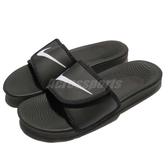 Nike 拖鞋 Kawa Adjust 黑 白 魔鬼氈 黑底白勾 男鞋 女鞋 GD拖 【PUMP306】 834818-001