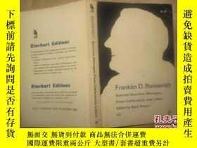 二手書博民逛書店Franklin罕見Roosevelt: Selected Sp