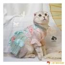 中國風古裝漢服貓咪裙狗狗衣春夏秋裙子衣服寵物旗袍拍照寫真【小獅子】