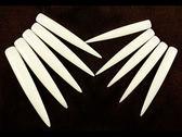 舞台型競賽展示用超長指甲片尖型透明自然方形自然10 片【甜心美甲材料 網】