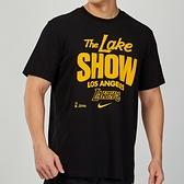 Nike 男 NBA 湖人隊 黑 籃球 運動 短袖 上衣 CK8810-010