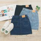 MUMU【P12565】素面牛仔A字短裙。三色