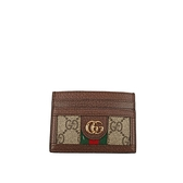 【GUCCI】GG SUPREME 卡片/名片夾(菸草色) 523159 96IWG 8745