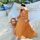 連身裙 大西北旅行沙漠云南麗江民族風連衣裙子西藏旅游衣服女裝大理出游