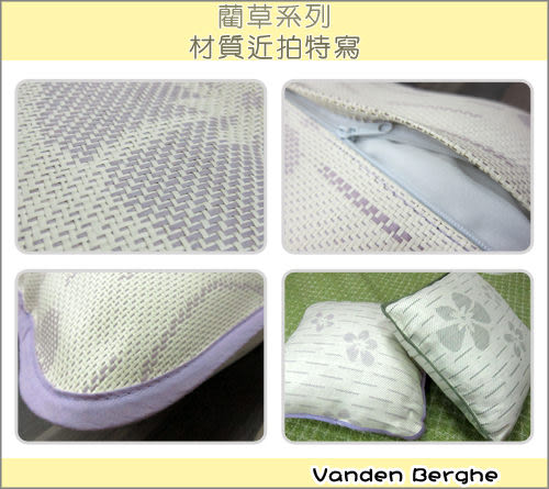 【范登伯格】幸運草☆紙纖抱枕-(紫)45x45cm