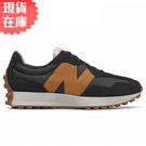 【現貨】New Balance 327 男鞋 慢跑 休閒 復古 拼接 撞色 黑 橘【運動世界】MS327HN1