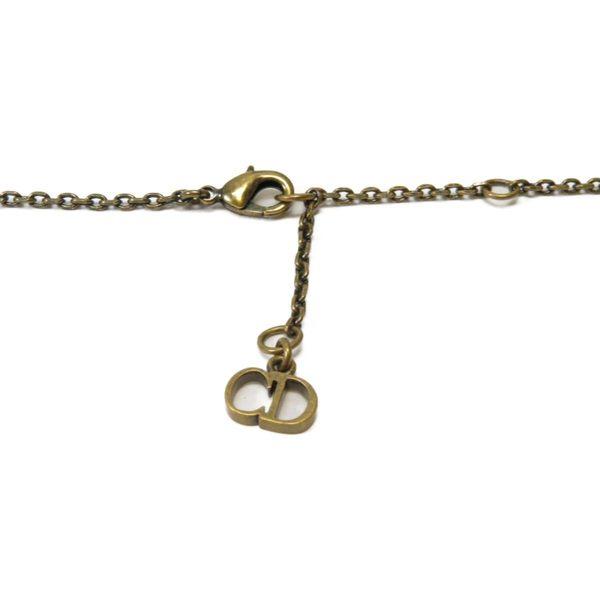 Dior 迪奧 金色復古仿舊蜜蜂圖案科技珠長項鍊 【二手名牌 BRAND OFF】