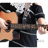 民謠吉它背帶皮頭吉它背帶電吉它背帶貝斯木吉它肩帶 快速出貨