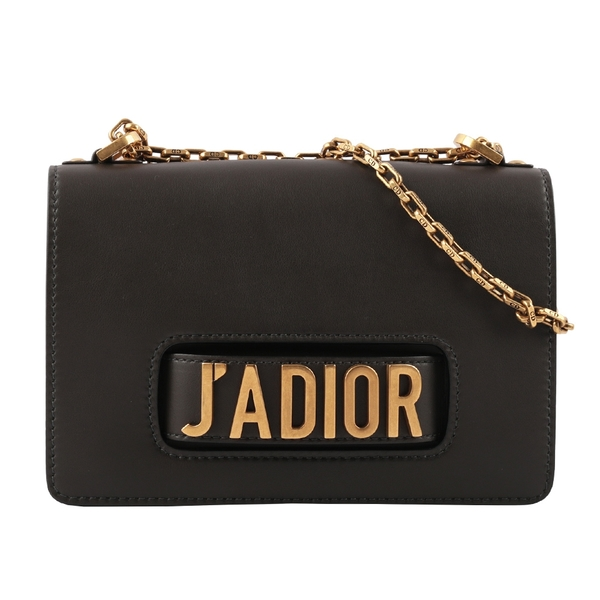 【DIOR】J'ADIOR 滑面小牛皮肩背/斜背/手拿三用包(黑色) CD1A000001 M900CVWU