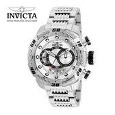 【INVICTA】新一代極致繩索腕錶 鋼鍊款 52mm - 銀色款
