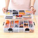 四層分格透明積木收納盒 整理盒 118格 NJK3609