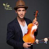 小提琴 手工實木初學者小提琴成人兒童小提琴初學考級小提琴入門演奏T 多色