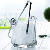 送冰夾玻璃保溫紅酒啤酒家用KTV酒吧大號歐式冰塊香檳桶   LY5430『時尚玩家』