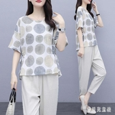 大呎碼女裝 2020夏季新款韓版寬鬆顯瘦短袖褲裝 時尚休閒運動套裝 TR490『寶貝兒童裝』