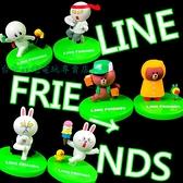 6款一組【日本TAKARATOMY】LINE FRIENDS 公仔造型擺飾 好朋友辦公生活物語【台中星光電玩】