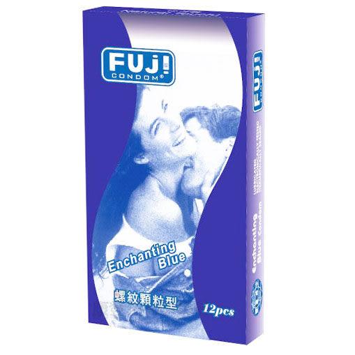 FUJI芙莉詩 藍色情挑 螺紋顆粒保險套 康登保險套商城