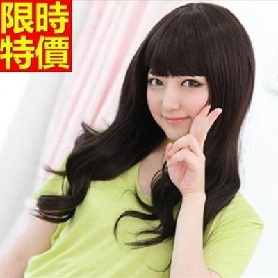 長假髮-日系齊瀏海大波浪捲流行女美髮用品3色69o43【巴黎精品】