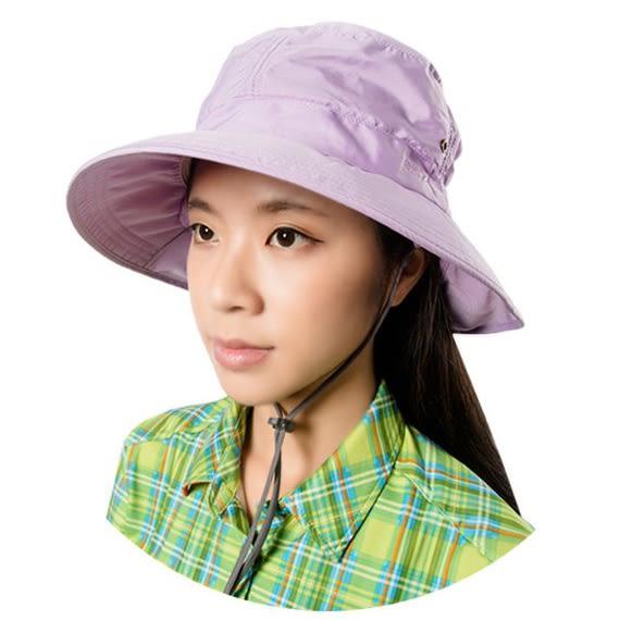 PolarStar 抗UV遮頸帽『淺紫』P16505 抗UV帽│登山帽│工作帽│遮陽帽│釣魚帽│防曬帽│圓盤帽