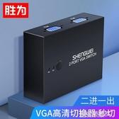 VGA切換器二進一出電腦電視顯示器高清視頻屏幕1進2出共享器【快速出貨】