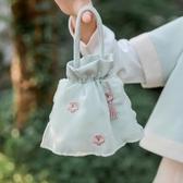 女孩包包 兒童古風包包女童斜背包小孩子中國風漢服刺繡布包小荷包手拎包 童趣潮品