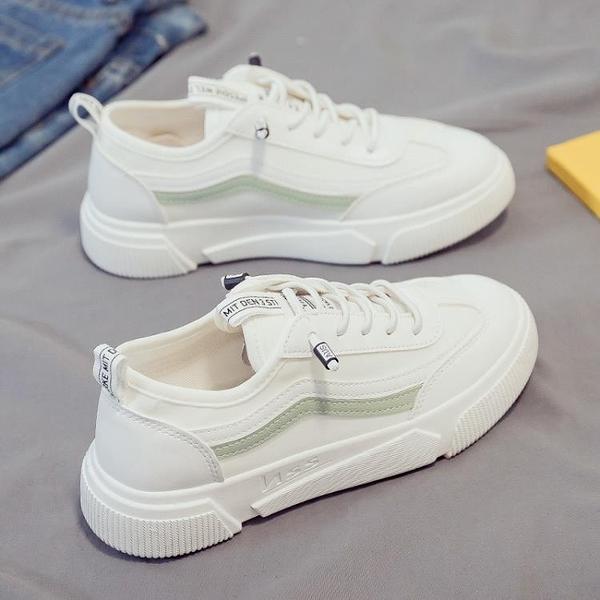 帆布鞋 春季新款帆布鞋女百搭學生小白運動老爹板鞋ins潮爆款 格蘭小舖