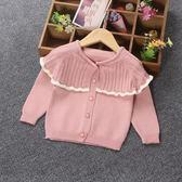 新春大吉 女童秋冬韓版針織衫開襟外套小童娃娃衫毛線衣外套1-3歲針織開襟