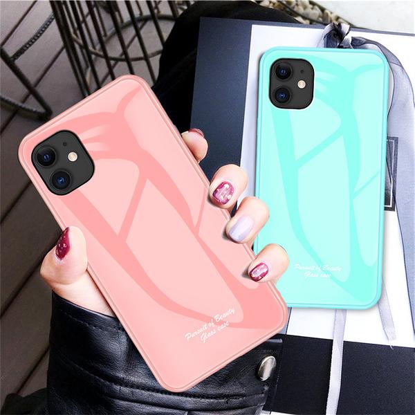 三星S20馬卡龍色玻璃手機保護殼 SamSung s20多色手機套 Galaxy S20+保護套 三星S20 Ultra手機殼