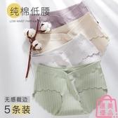 5條|孕婦內褲純棉低腰孕晚期孕早期短褲內衣女【匯美優品】