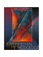 二手書博民逛書店 《Experimental methodology》 R2Y ISBN:0205308325│LarryB.Christensen