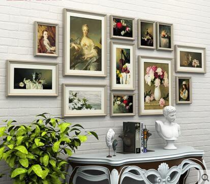 照片牆裝飾歐式相框牆客廳餐廳相片牆創意組合掛牆畫框