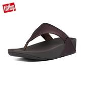【FitFlop】LULU LEATHER TOE-THONGS 經典款夾腳涼鞋(巧克力棕)-女