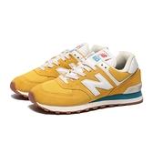 NEW BALANCE 574 休閒鞋 復古 芥末黃 麂皮 運動 慢跑 (布魯克林) ML574HB2