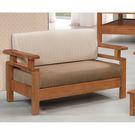 【森可家居】南檜實木板椅雙人沙發 8SB134-3 MIT 台灣製造