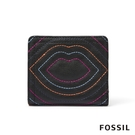 FOSSIL LOGAN 輕巧對折RFID唇印短夾 SL6326001