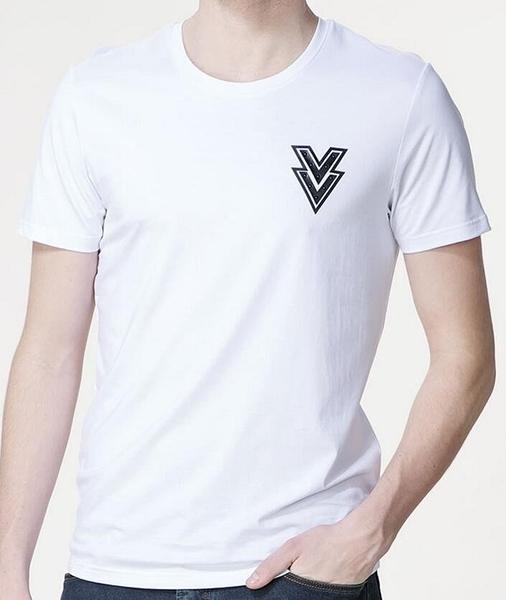 找到自己 MD 韓國 男 街頭 時尚 潮 箭頭圖案 LogoT恤 短袖T恤 特色T恤