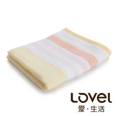 里和Riho LOVEL日系簡約配色條紋雙面棉紗浴巾 70x140cm 2色可選 毛巾 哺乳巾 紗布巾