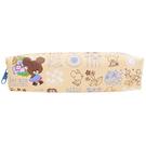 B款 牽牛花【日本進口正版】小熊學校 皮質 筆袋 鉛筆盒 中筆袋 防潑水 The Bears' School - 832035