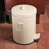 雙12盛宴 歐式四款彩色加厚垃圾桶家用腳踏美式復古廚房衛生間客廳郵筒