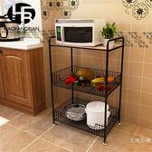 廚房置物架落地多層微波爐架子廚房用品3層置物儲物架收納架落地 交換禮物聖誕節