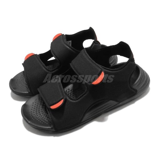 adidas 涼鞋 Swim Sandal C 黑 橘紅 小朋友 愛迪達 兒童 涼拖鞋 【ACS】 FY8936