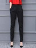 新款春秋冬季哈倫褲女褲寬鬆直筒黑色長褲加絨休閒小西  『洛小仙女鞋』