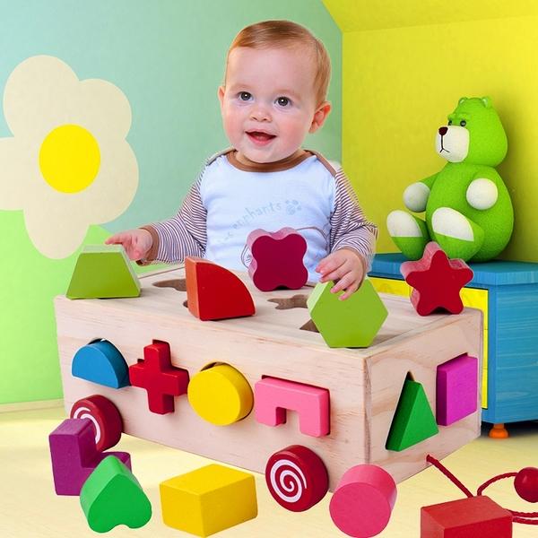 嬰兒形狀配對智力六面盒兒童益智積木玩具1-2-3-4周歲寶寶 萬客居